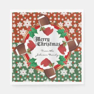 Merry Christmas Football Lovers Paper Napkin