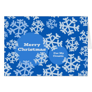 Merry Christmas for Cousin, Abstracted Snowflakes Card