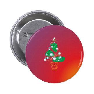 Merry Christmas Fröhliche Weihnachten Buon Natale Anstecknadelbuttons