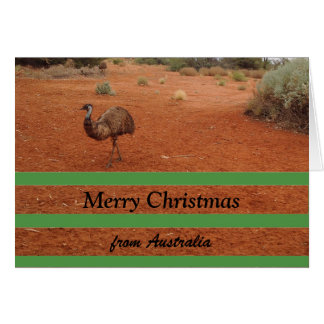 Merry Christmas from Australia blank card