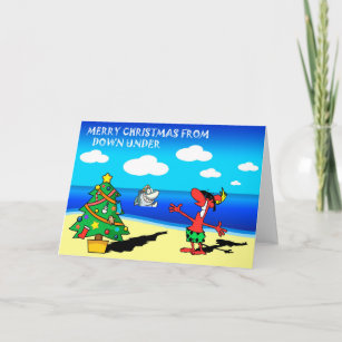Funny beach cards zazzle au merry christmas from australia greeting card m4hsunfo