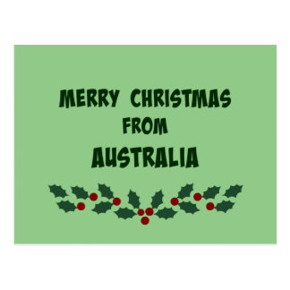 Merry Christmas from Australia Postcard
