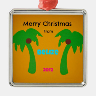 Merry Christmas from Belize 2012 Metal Ornament