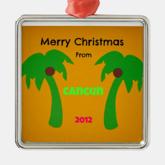 Merry Christmas from Cancun 2012 Metal Ornament