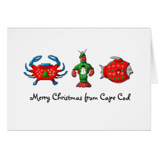 Merry Christmas from Cape Cod Tacky Sweaters Card