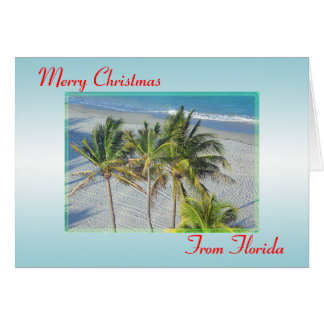 Merry Christmas From Florida Christmas Card, Beach Card