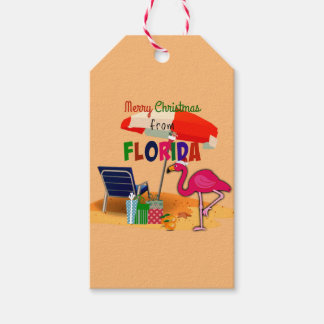 Merry Christmas from Florida, fun in the sun Gift Tags