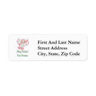 Merry Christmas From Grandma Angel Return Address Label