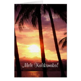 Merry Christmas From Hawaii Mele Kalikmaka Card