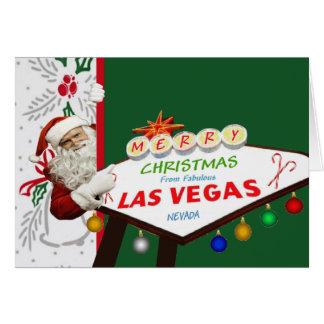 MERRY Christmas From Las Vegas Card