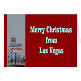 Merry Christmas from Las Vegas Card