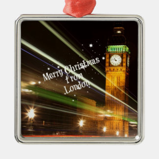 Merry Christmas from London - Big Ben Metal Ornament
