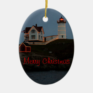 Merry Christmas from Maine Ceramic Ornament