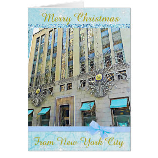 Merry Christmas from New York City Card