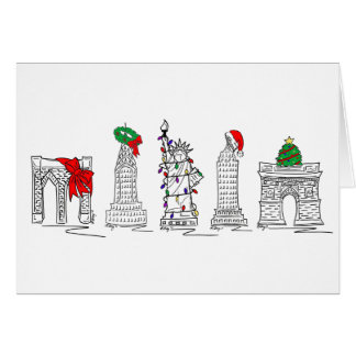 Merry Christmas from New York City NYC Xmas Cards