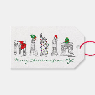 Merry Christmas from NYC New York Holidays Tags