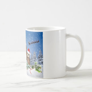 MERRY CHRISTMAS FROM OWL OF US! COFFEE MUG