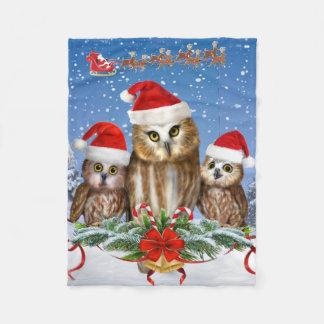 MERRY CHRISTMAS FROM OWL OF US! FLEECE BLANKET
