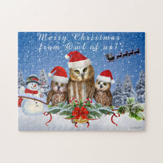 MERRY CHRISTMAS FROM OWL OF US! JIGSAW PUZZLE