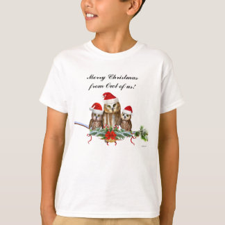 MERRY CHRISTMAS FROM OWL OF US! T-Shirt