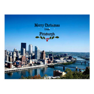 Merry Christmas from Pittsburgh Postcard