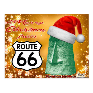 Merry Christmas from Route 66 Giganticus Postcard