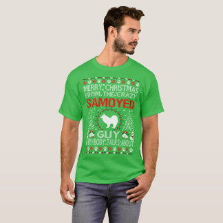 Merry Christmas From Samoyed Dog Guy Ugly Sweater