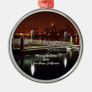 Merry Christmas from San Diego, California Metal Ornament