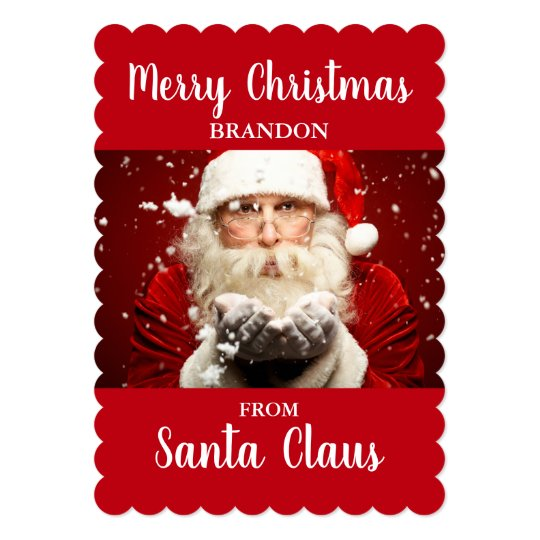 Merry Christmas From Santa Claus ADD NAME Card RS