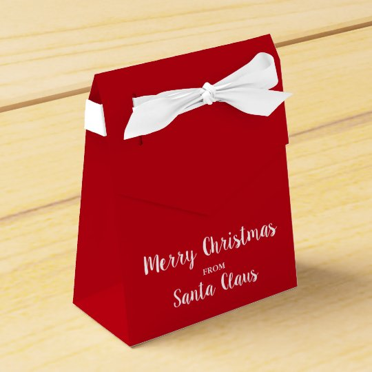 Merry Christmas From Santa Claus Bow Favour Box