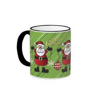Merry Christmas from Santa Claus Ringer Mug