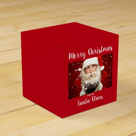 Merry Christmas From Santa Claus Red Favour Box