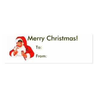Merry Christmas From Santa Tag Business Card
