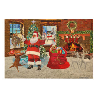 Merry Christmas from Santa Wood Wall Art