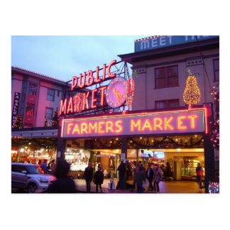 Merry Christmas from Seattle Pike Place Market Post Card