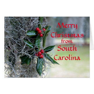 Merry Christmas from South Carolina Card