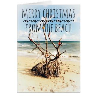 Merry Christmas from the beach card