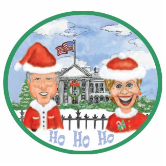 Merry Christmas from the Clintons Photo Sculpture Decoration