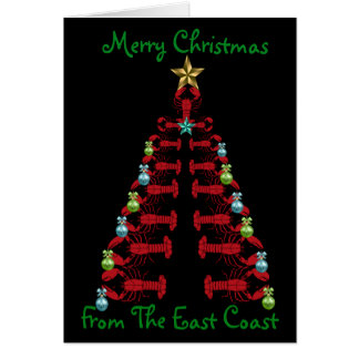 Merry Christmas from the East Coast lobster tree Card