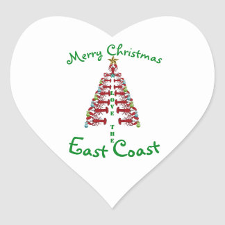 Merry Christmas from the  East Coast sticker