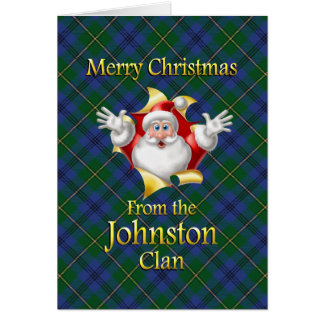 Merry Christmas From the Johnston Clan Greeting Card