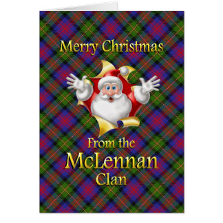 Merry Christmas From the McLennan Clan Card
