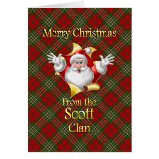 Merry Christmas From the Scott Clan Card