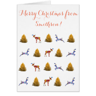 Merry Christmas from us Greeting Card