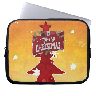 Merry Christmas funda_10 Computer Sleeves