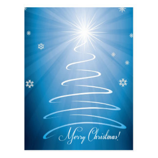 Merry Christmas Funky Christmas Tree Postcard