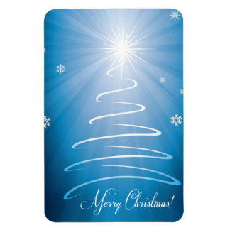 Merry Christmas Funky Christmas Tree Rectangular Photo Magnet