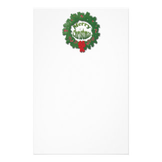 Merry Christmas Garland Customized Stationery