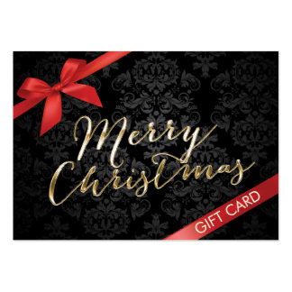 Merry Christmas Gift Certificates Business Card