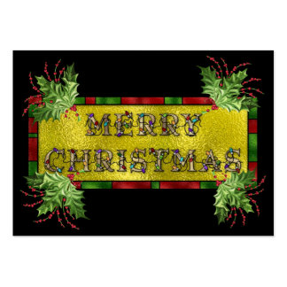 Merry Christmas Gift Christmas Enclosure Card / Ta Pack Of Chubby Business Cards
